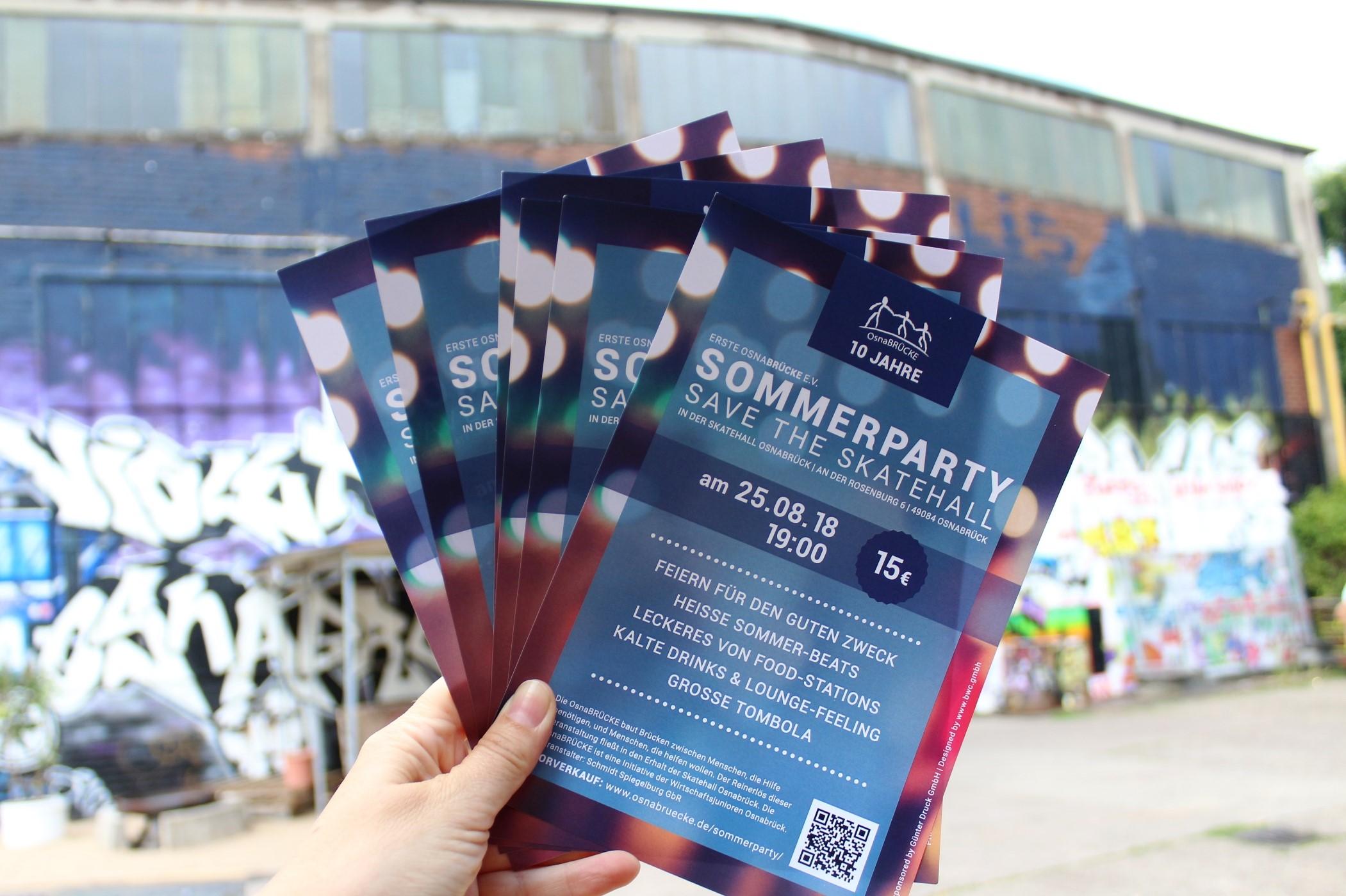 Flyer Sommerparty der OsnaBRÜCKE