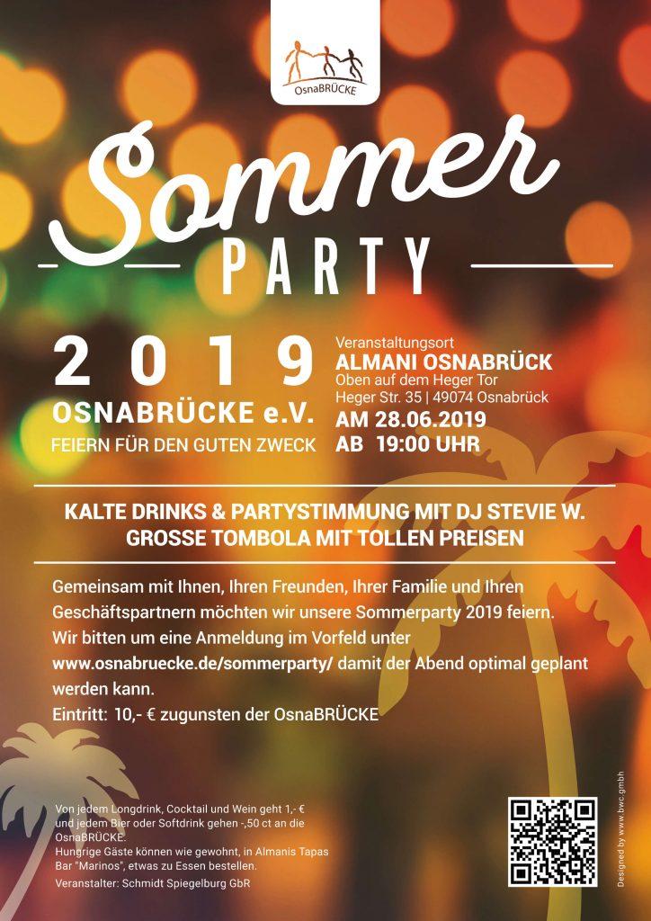 Sommerparty 2019 Plakat- OsnaBRÜCKE