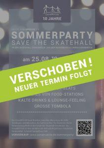 Flyer Sommerparty 2018 - Verschoben